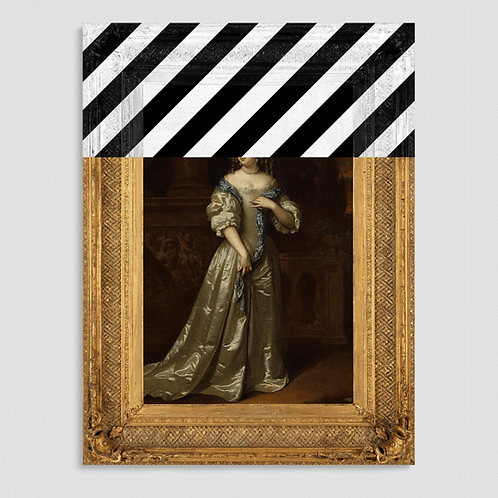 Limited Edition: The Striped Lady canvas