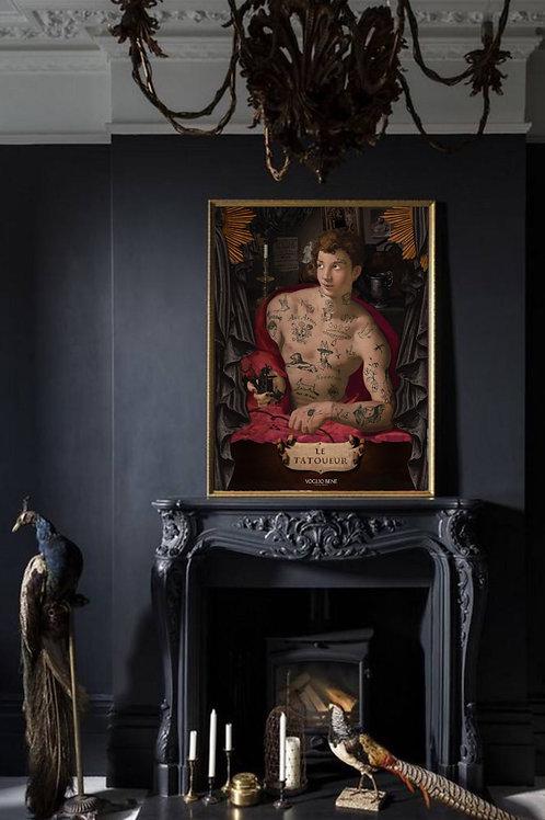"""""""The Tattoo Artist"""" Art Print"""