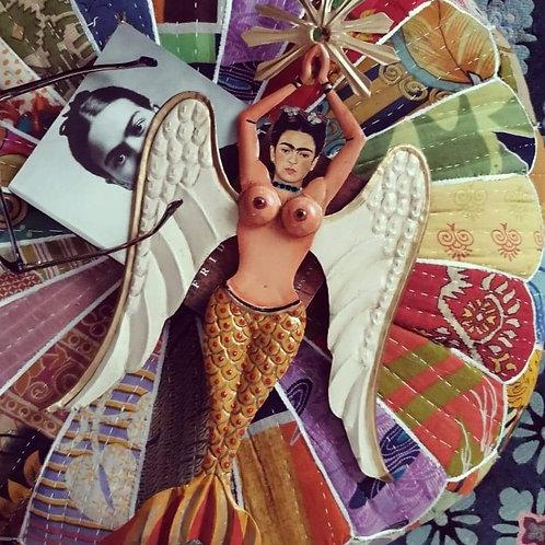 Frida Mermaid Wall Decoration - Yellow