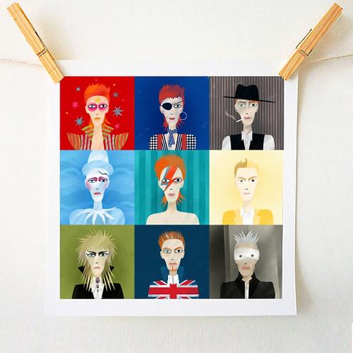 9 Portraits of David Bowie