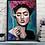 "Thumbnail: ""Smoking Frida"" Art Print by Marta Hutt"