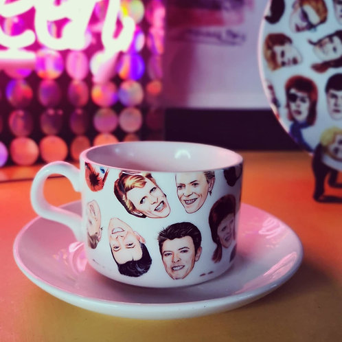 Fabulous Bowie Cup and saucer