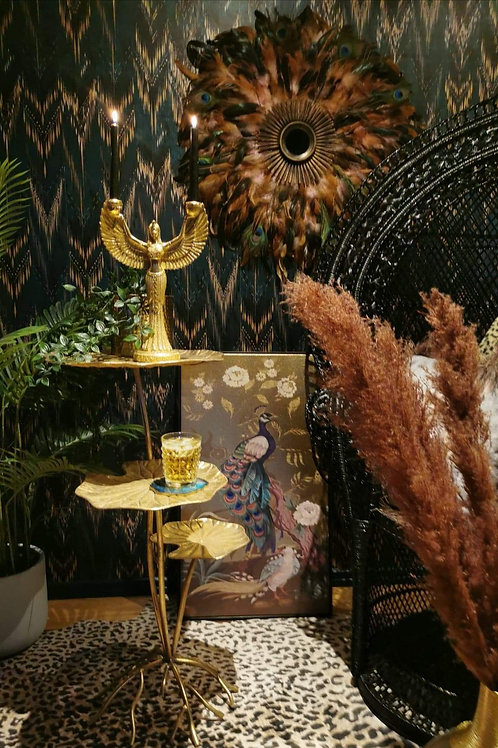 Golden Leaf Three Tier Side Table