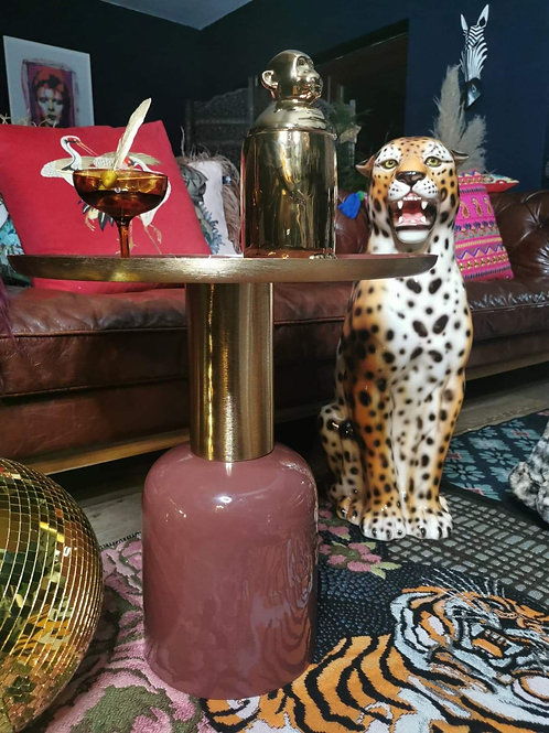 Luxe Pink & Gold side table