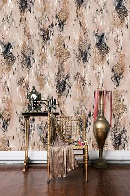 Bibi wallpaper in blush