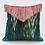 Thumbnail: Bibi velvet cushion in peacock green