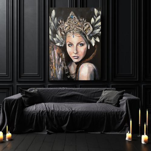 """""""Sapphire Goddess"""" Art Print by Marta Hutt"""
