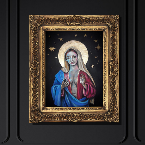 """""""Mary"""" Art Print with Gold By Marta Hutt"""