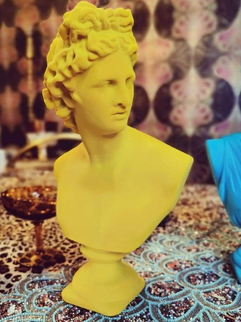 Bright Yellow Flock Apollo Bust