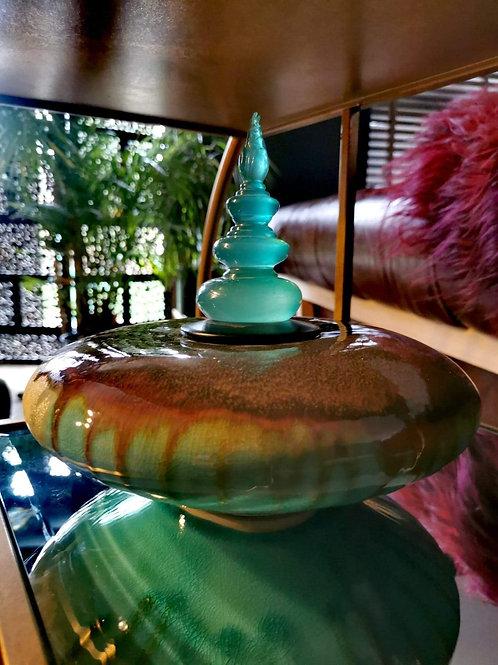 The Large Aqua Stone Jar