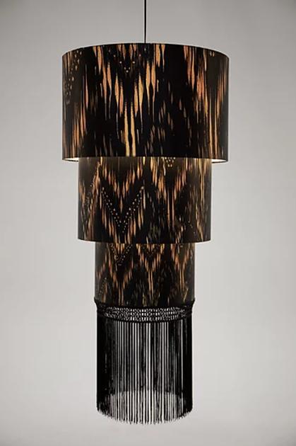 Thea three tier silk lampshade