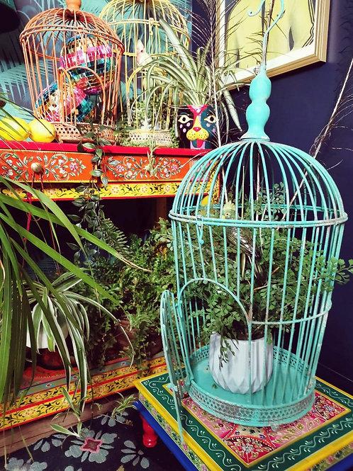 Green Bird Cage