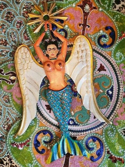 Frida Mermaid Wall Decoration - Blue