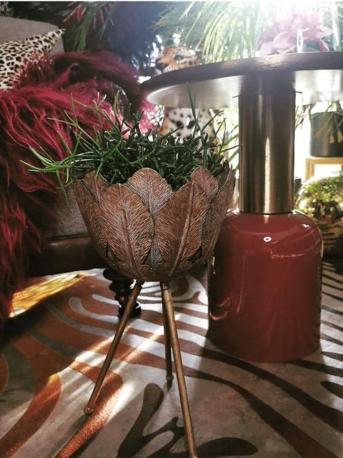 Gold Leaf Plant Stand
