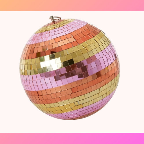 """Get Up & Boogie"" Rainbow Disco Ball"