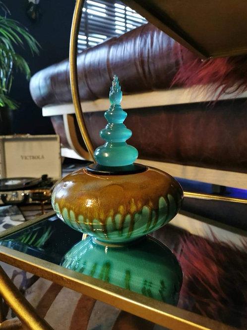The Medium Aqua Stone Jar