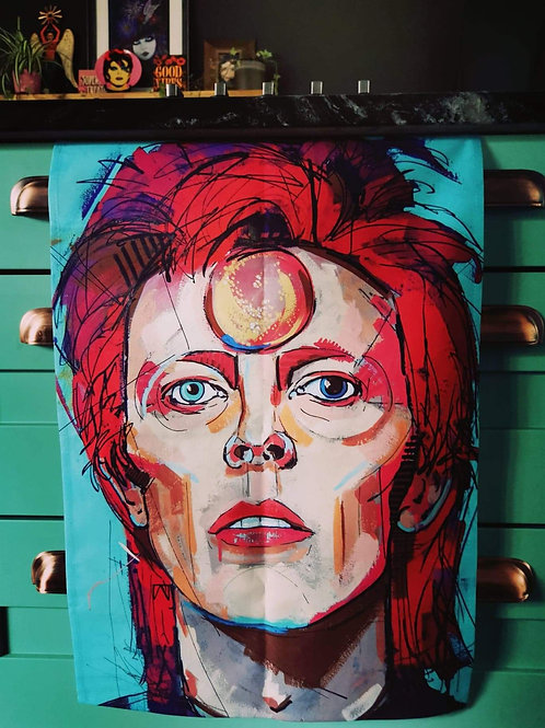Large Bowie Tea Towel