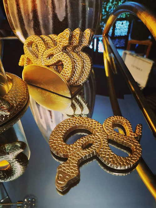 Gold Luxe Serpent Coasters