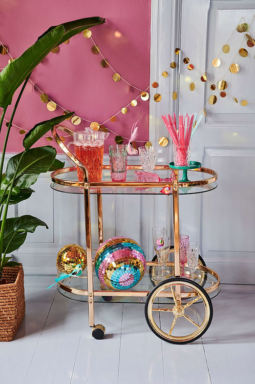 Gold Cocktail Cart