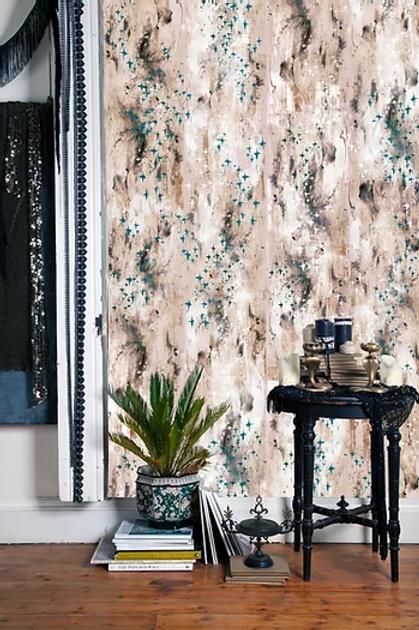 Bardot wallpaper in blush