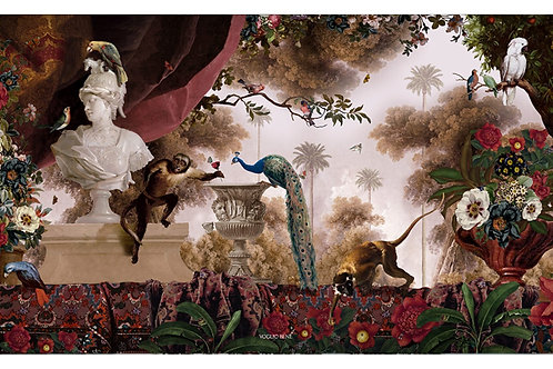 """Oriental Garden"" Velour Wall Hanging"