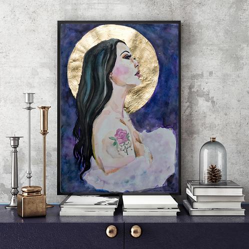 """Harvest Moon"" Art Print by Marta Hutt"