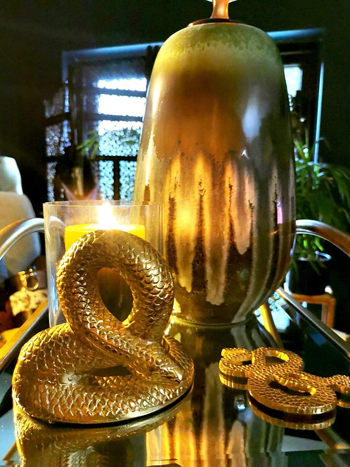 Gold Luxe Serpent Candle Holder