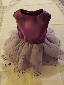 Purple ruffly doll dress