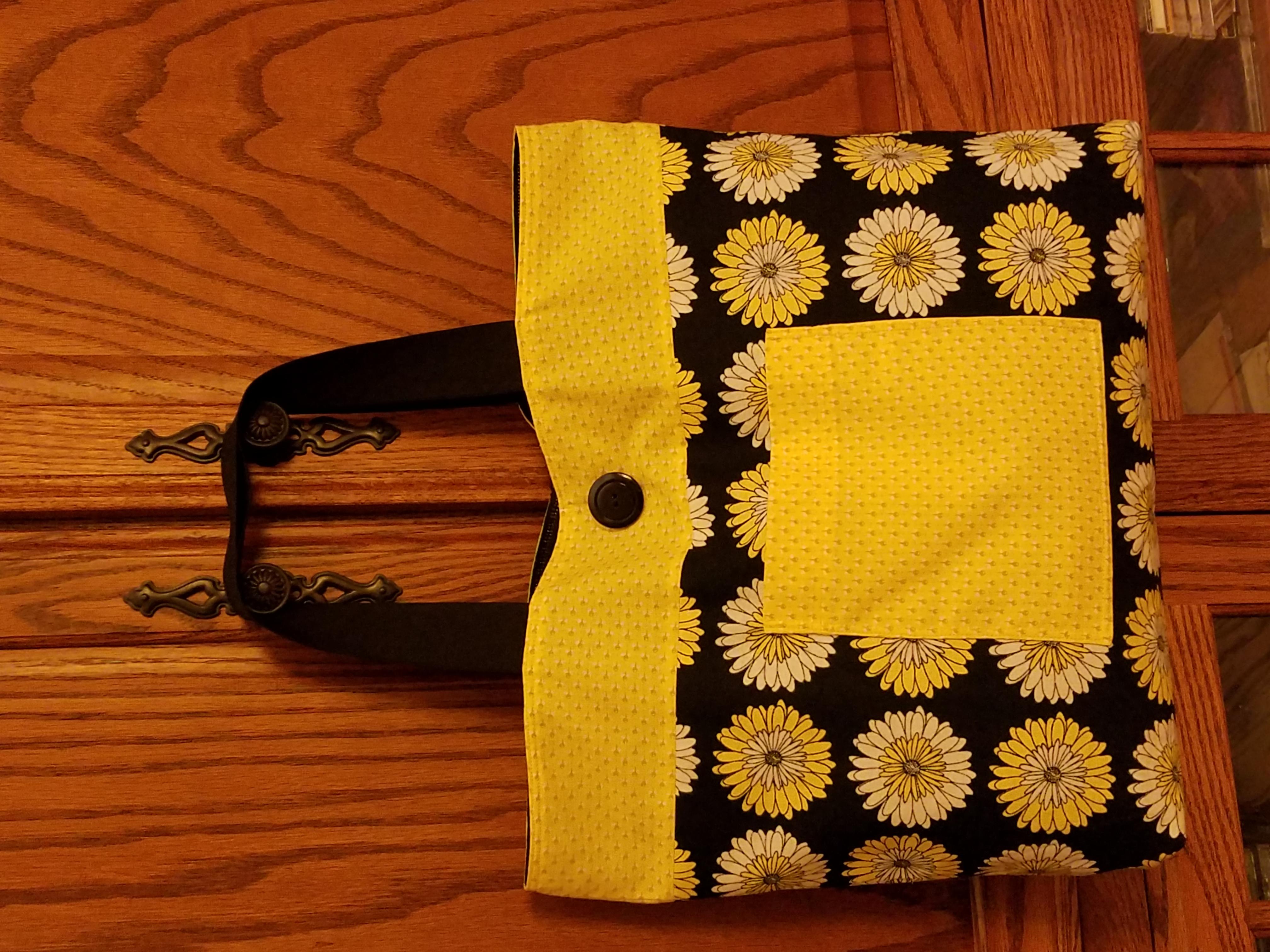 Daisy cotton purse / tote