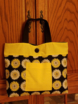 Daisy cotton purse / tote