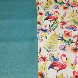 Flamingo fabric and contrast for custom