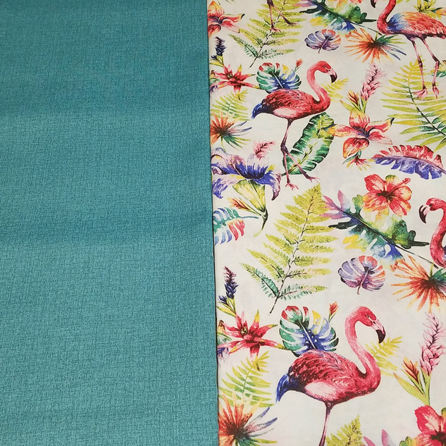 Flamingo fabric and contrast for custom