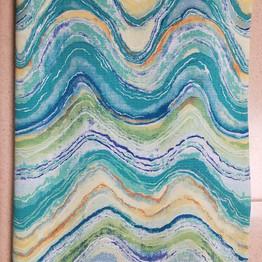 Caribbean wave outdoor fabric