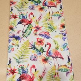 Flamingo fabric for custom runner
