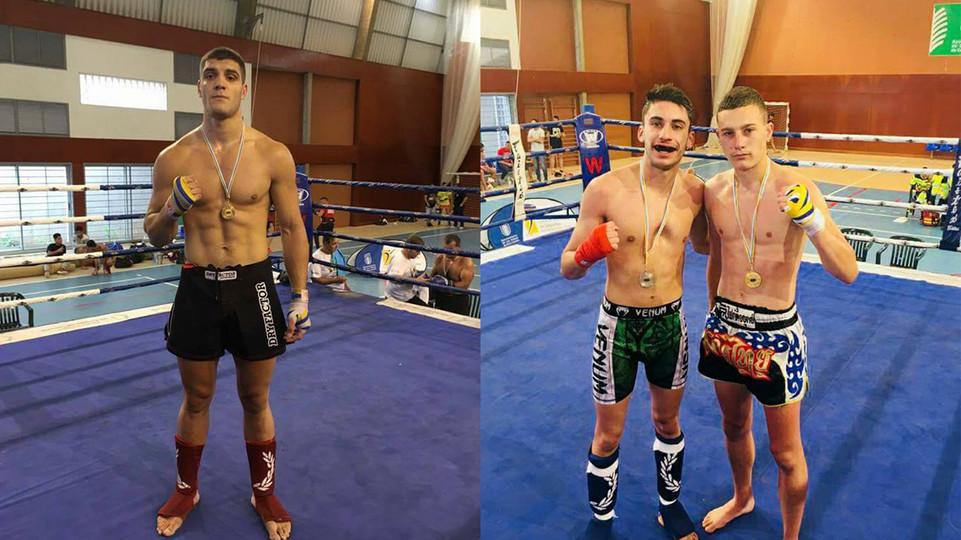 Aarón Garcia y Adonay Guerra ganan sus combates en el Open por equipos.