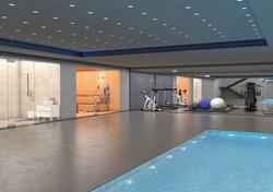 Basement gym/pool
