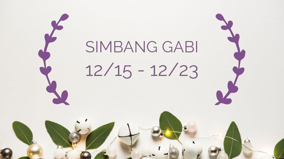 Simbang Gabi Schedule