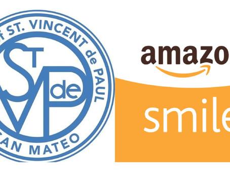 Amazon Shopper? Support St. Vincent de Paul!