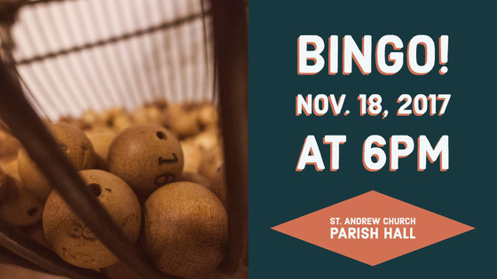 Bingo - November 18, 2017