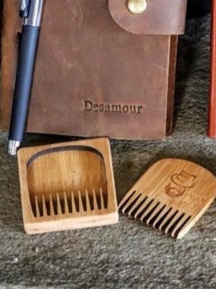 custom bamboo beard comb