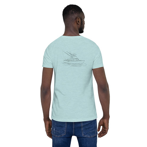 Custom Design Bertram 31 Line Drawing Short-Sleeve Unisex T-Shirt