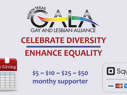 Support GALA with a monthly donation