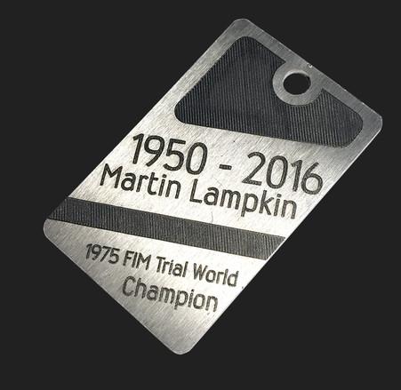 Martin Lampkin Commemorative Tag