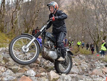Dan Clark wins the Pre 65 Scottish