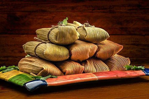12 Chile Colorado Beef-less Tamales!