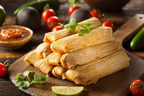 6 Red & 6 Green Tamales!