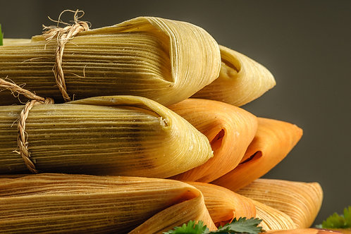 12 Chile Verde Chicken-less Tamales!