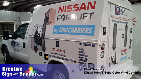 003 Fleet Service Truck Graphics by Crea