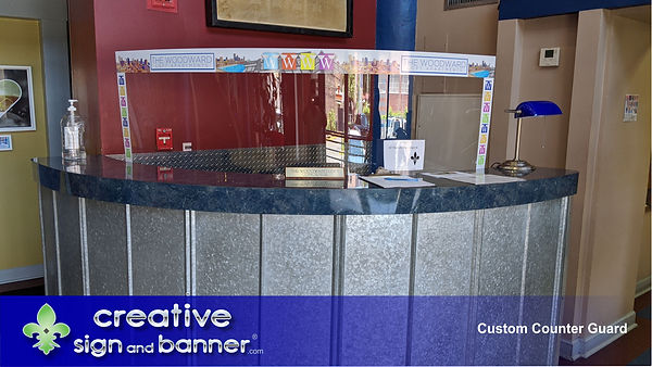 Counter Guard by Creative Sign and Banne