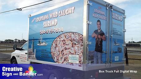 007 Full Box Truck Vinyl Wrap Creative S